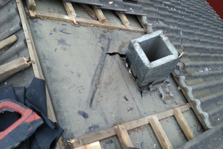 Aluskatteen korjaus tiilikatolle